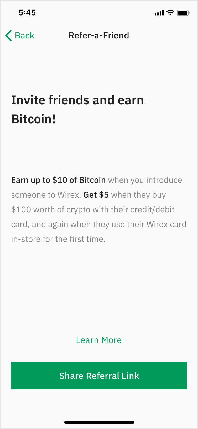 Earn BTC Rewards with CryptoBack™ & Refer-A-Friend | Wirex