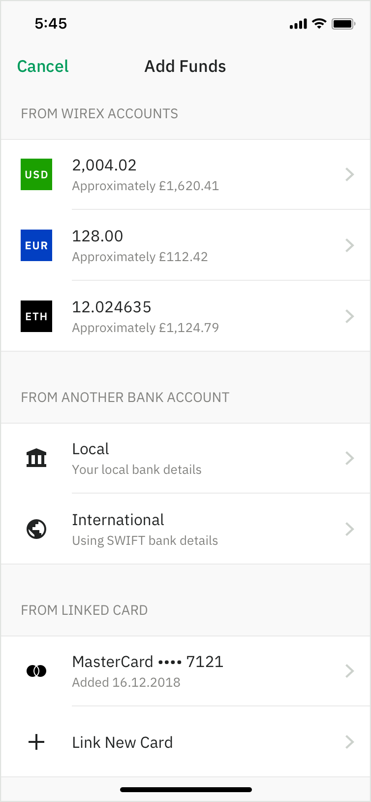 Crypto & Traditional Currency Transfers & Exchanges | Wirex