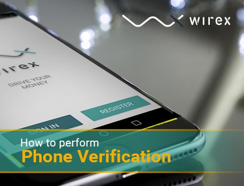 wirex phone verification