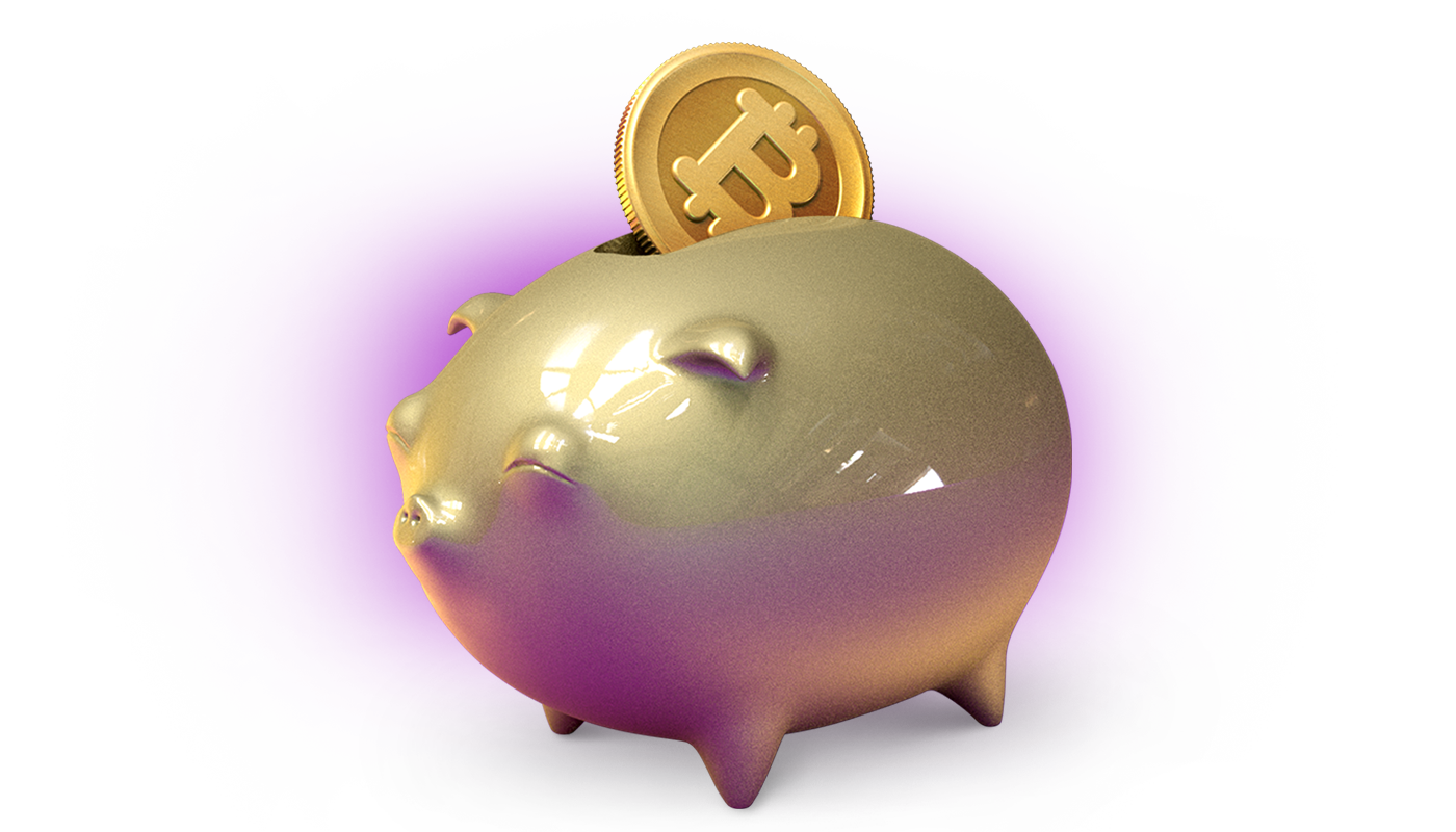 Bitcoin savings jar