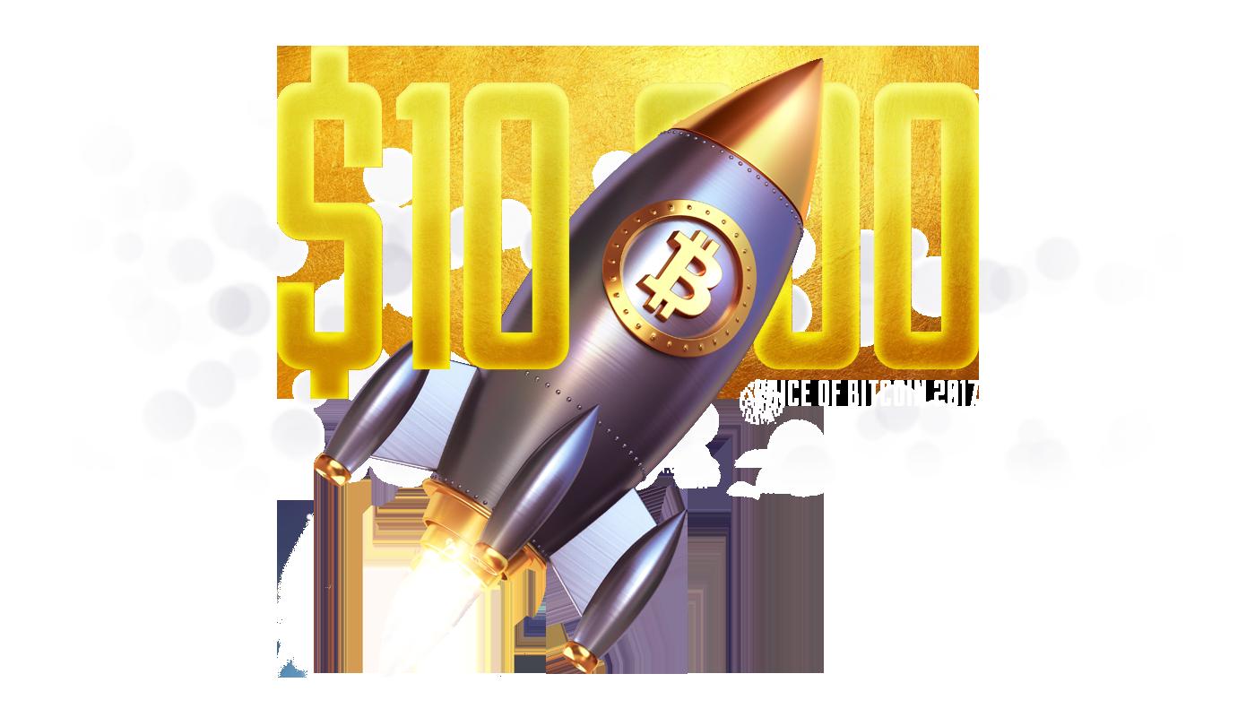 Bitcoin hit $10,000