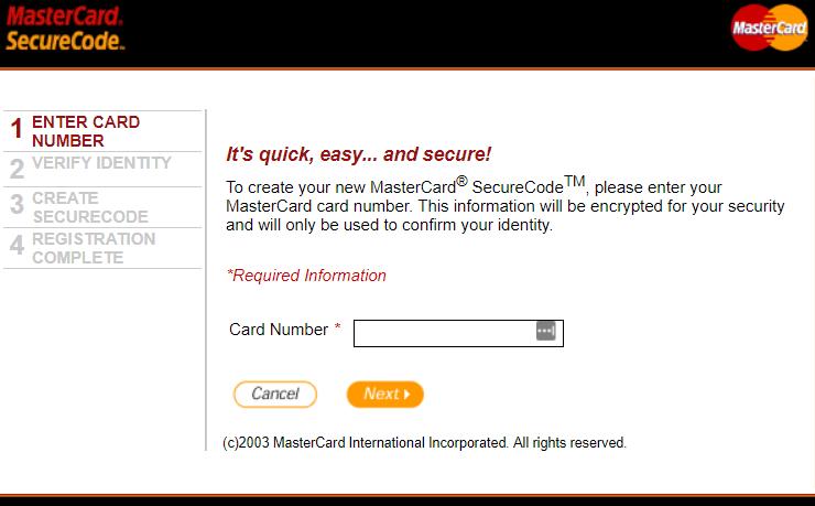 3d Secure Registration