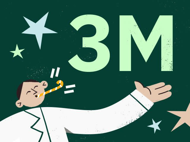 3 Million Users and Profitable