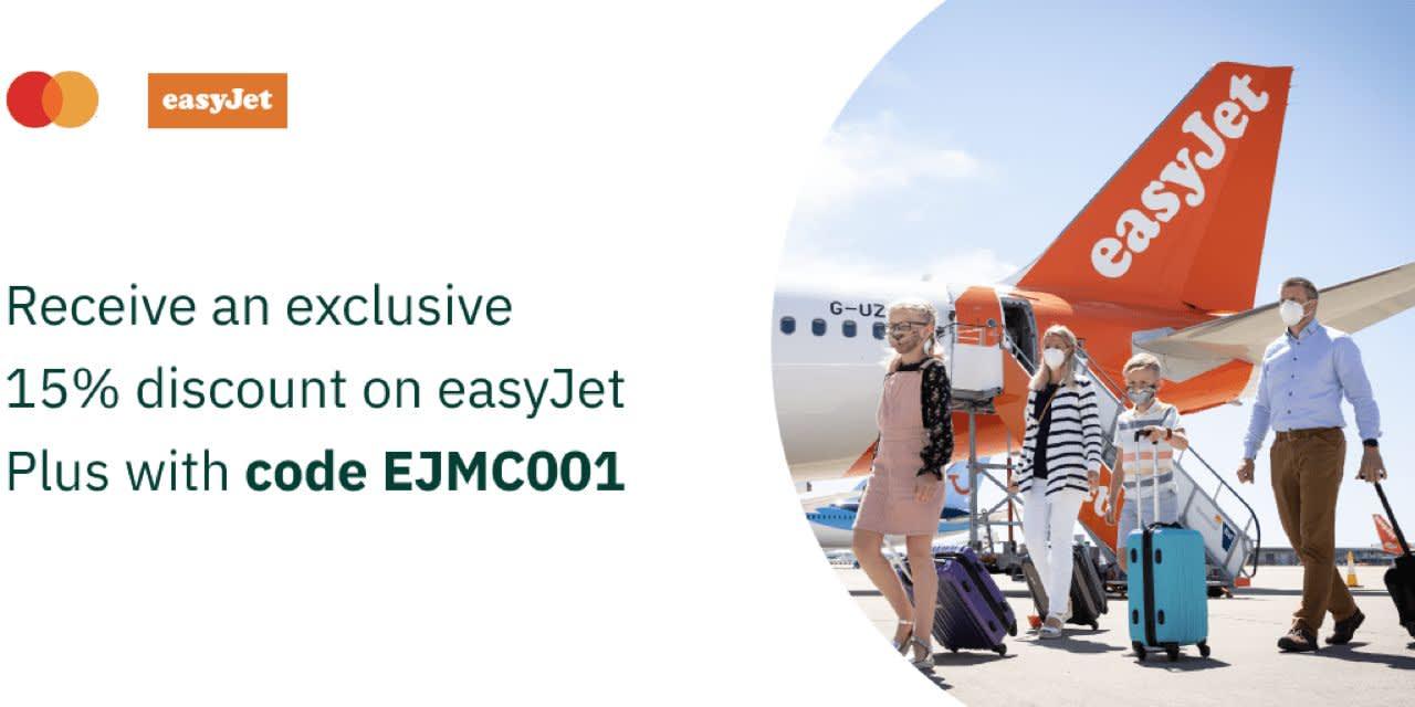 easyJet Plus: receive an exclusive 15% discount