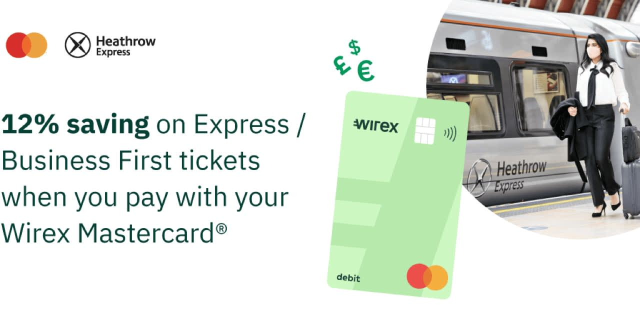 Heathrow Express: 12% saving on Express or Business First tickets