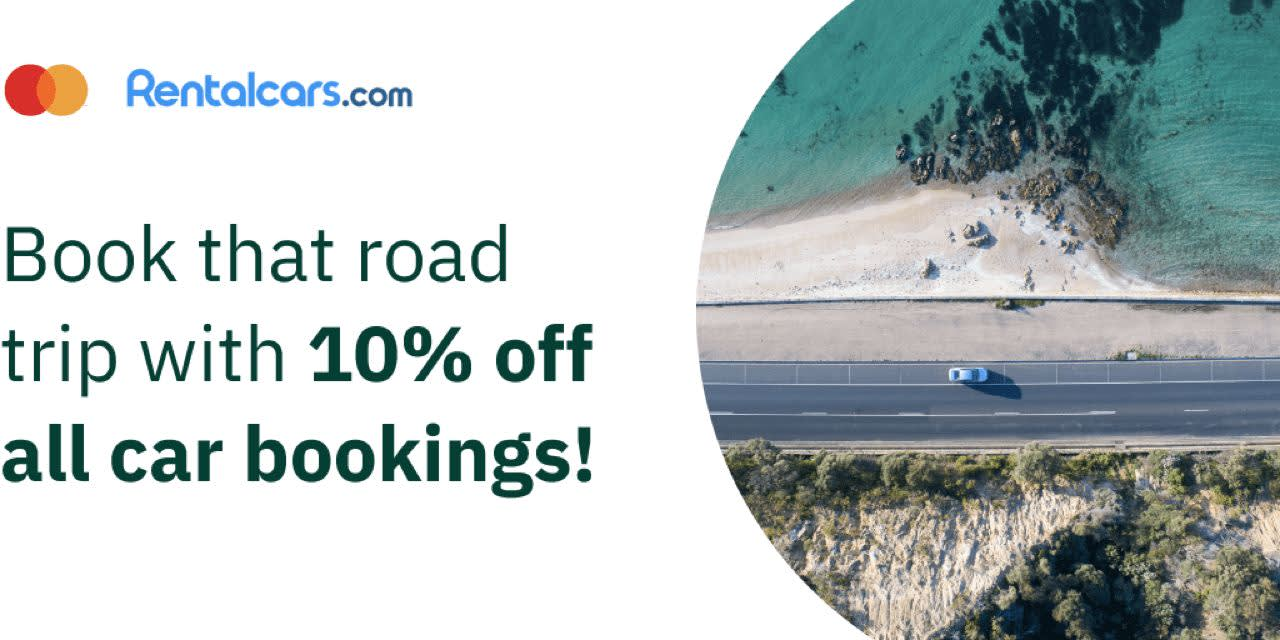Rentalcars.com: book that road trip with 10% off all car bookings